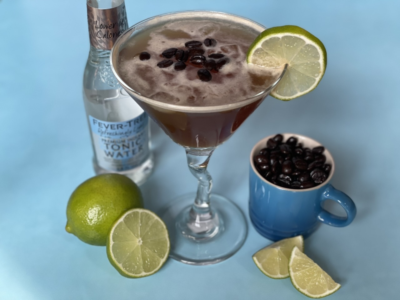 Espresso & Tonic with fresh ginger and lime juice